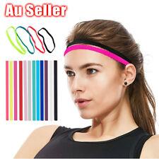 Thin SINGLE Sports Elastic Headband Hair Band Rubber Anti-Slip Women Hair Band