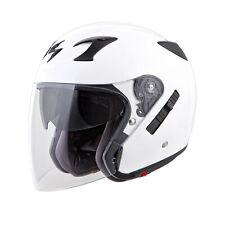 Scorpion Adult White EXO-CT220 Solid DOT Cruiser 3/4 Motorcycle Helmet