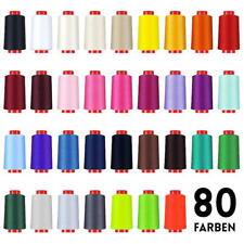 Overlockgarn in 80 Farben, 4000 m Konen, Industriequalität, Nähgarn
