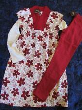NWT 6 7 Tea Collection Kira Kira Wrap Knit Sleeveless Dress Red Floral Print