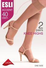 KNEE HIGH STOCKINGS Esli Accent 40 Den | Sheer Elastic Socks LOT | FREE Shipping