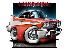 1958 Christine Fury Cartoon Muscle Car T-Shirt 9285 plymouth auto