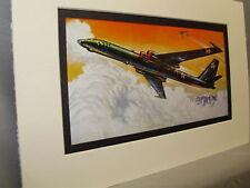 Russian Myasishchev M 4 Bison Bomber Model Airplane Box Top Art Color  artist