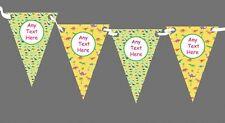 VERDE GIALLO Dinosauro personalizzato bambini festa di compleanno Bunting