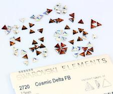 2 X Genuine SWAROVSKI 2720 Cosmic Delta Triangle 7.5mm Flat Backs - All Colors
