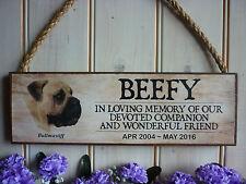 PERSONALISED BULLMASTIFF MEMORIAL SIGN BULLMASTIFF DOG REMEMBRANCE PLAQUE GARDEN