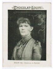 CHROMO  CHOCOLAT LOUIT SALON 1891 DELECLUZE (PORTRAIT