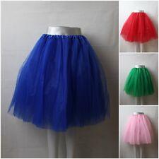 Tütü Tutu Tüllrock Rock Ballettkleid Petticoat 6 Lagen 60cm XL Party Freizeit