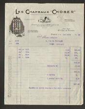 """PARIS (III°) CHAPEAUX de SPORT & de BAIN / PAILLE FEUTRE """"CHOBER"""" en 1935"""