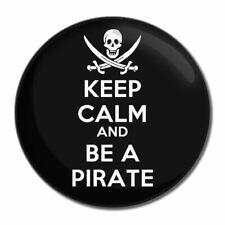 Keep Calm and essere un pirata-tondo Specchio in vetro compatta 55mm/77mm badgebeast