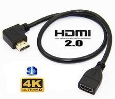 Premium HDMI EXTENSION Cable Male Angle Plug to Female V2.0 UltraHD 4K * 2K HD