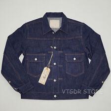 BOB DONG Repro Vintage 507XX Type 2 Denim Trucker Jean Jacket Selvage Men's Coat
