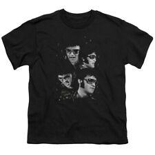 Elvis Presley Kids T-Shirt Faces Black Tee