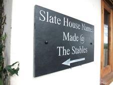 Large Engraved Natural Slate House Door Sign Name Number Plaque 40cm x 30cm