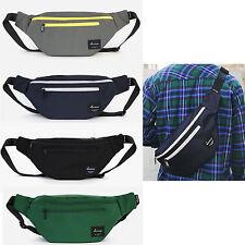 Korea Waist Fanny Pack Cross Shoulder Bag DOUBLE Hip Sack Hipsack Polyester NEW