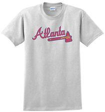 Atlanta Braves T-shirt. Ash, Khaki,White,Yellow Small - XXXL. 100% Cotton