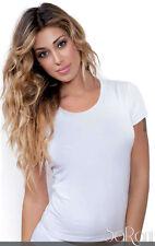 3 T-shirt Maglia Intimo Donna Jadea Bianco Blu Nero Grigio Cotone Modal Art.4181