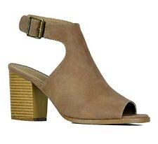 d0d9caa5518d5 New Women's Peep Toe Chunky Block Heels Open Toe Mules Sandals Slides Shoes