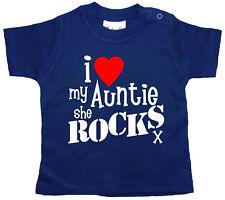 """ZIA Bambino T-Shirt """" I love my She Rocks """" NIPOTE REGALO DIVERTENTE"""