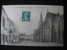 CPA 44 FAY DE BRETAGNE PLACE DE L'EGLISE COMMERCE TABAC 1911