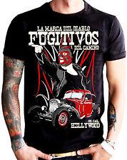 La Marca Del Diablo [fugitivos] T-Shirt Rockabilly Consiglio Hot Rod Biker Rocker INK