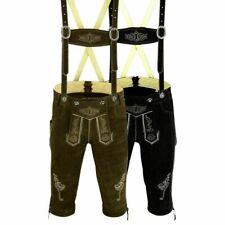 Herren Trachtenlederhose Inkl Hosen Träger Größe 46 bis 62 in Zwei Farben LE1LE2
