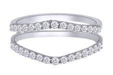 IGI Certified 1/2 Ct Natural Diamond Enhancer Ring Guard Wrap 14K Gold