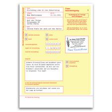Einladungskarten zum Geburtstag als Krankschreibung Krankmeldung Einladung