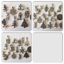 Tibetan Silver Christmas Xmas Charms - Choose from 3 Mixed Sets - 9, 13 or 15pcs