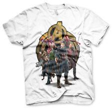Avengers Infinity War Team-up Official Ironman Groot Marvel White Mens T-shirt