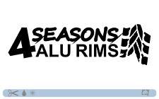 4 Seasons ALU RIMS CERCHI Sticker bombed Bomb OEM JDM Style DUB Tuning Adesivi