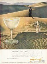 1955 Smirnoff Vodka Golf in the Desert Sands Vintage Bottles PRINT AD