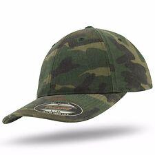 Flexfit Cap Army Garment Washed Camouflage Camo Cotton Vintage Cap 6977CA