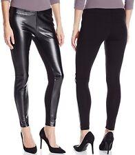 Jessica Simpson Black Front Panel Faux Leather/Ponte Back Cut & Sew Legging $32