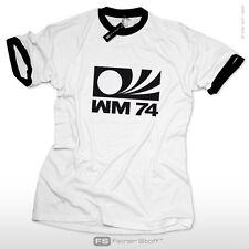 Deutschland Germany WM 74 Fan Retro Trikot Fußball T-Shirt EM Weltmeister Soccer
