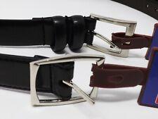 American Accessories Men's Silvertone Buckle Belt - New