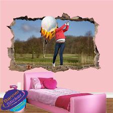 Golfista HIT Power GOLF Shot stanza ufficio Vivaio Adesivi Murali ARTE Murales VA3