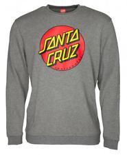 SANTA CRUZ - Classic Dot - Skateboard Crew Pullover Top - Heather Grey