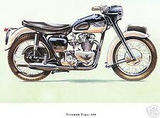 Triumph Tiger 100 Moto Bicicleta Clásica Motocicleta de impresión