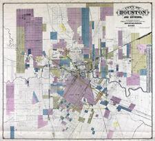 1856 TEXAS MAP TX Six Mile Karnes City Kemah Kemp Kempner Kennard Ratcliff HUGE
