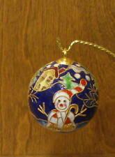 Kubla Craft Ornament #KC4497D ENAMELED SNOWMAN,  NIB From Retail Store CHRISTMAS