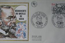 ENVELOPPE PREMIER JOUR SOIE 1982 BACILLE DE KOCH