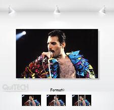Freddie Mercury - 9 - Quadro stampa su Tela Pelle Canvas Dipinto Arte Moderna