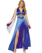 Sexy Blue Greek Roman Goddess Toga Renaissance Womens Halloween Costume