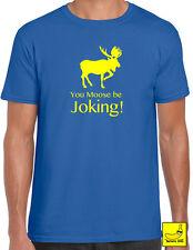 Moose Be Joking Novelty T-Shirt Caravanning Camping Farm Tee Funny Forecast Gift