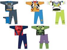 Boys Kids Character Pyjamas PJs Superhero Novelty Superman Toy Story Hulk Cotton