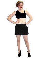 Black Fluffy Furry Fur Skirt Hen Night Party Fancy Dress