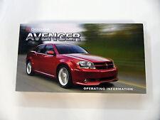2008-2014 Dodge Avenger User Manual Guide / Owners manual / Operating info
