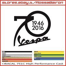 1 ADESIV0 VESPA 70 ANNI YEARS 1946-2016  mm.80x80 - AUFKLEBER PEGATINAS DECALS