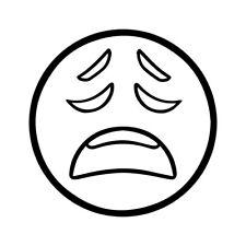 "4"" EMOJI SAD Vinyl Decal Sticker Car Window Laptop Cry Frown"